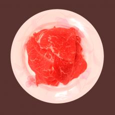 쵸이스등급 소불고기  2.4kg 100g당 1.300원